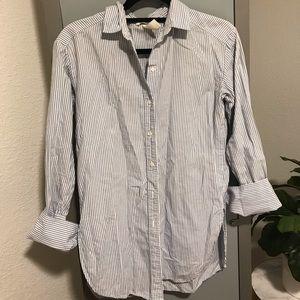 Stripped button down blouse